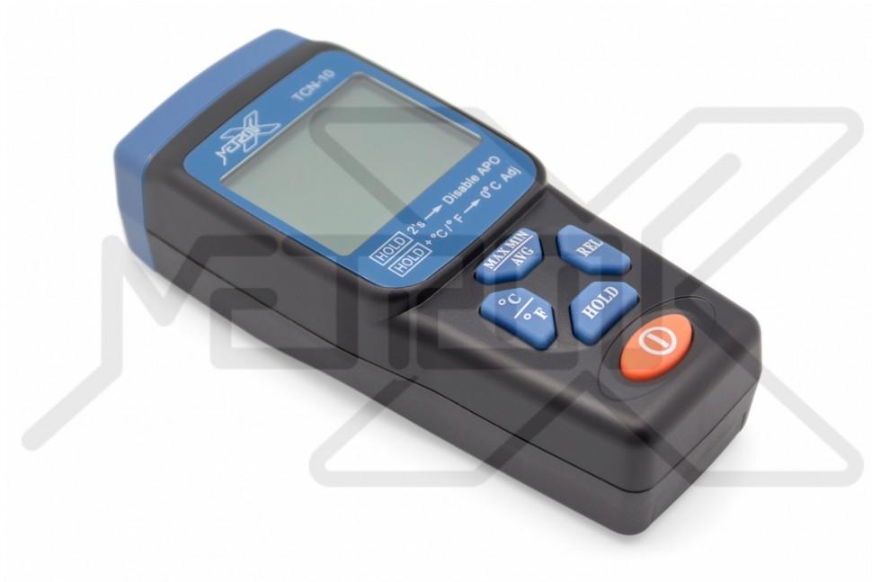 Контактный термометр HotLiner TCN-10 Электронный термометр для контактного измерения температуры в диапазоне -200°C - +1372°C. Внешний термопарный температурный датчик K-типа. Определение максимума, минимума и среднего значений. Режим относительных измерений. Калибровка.