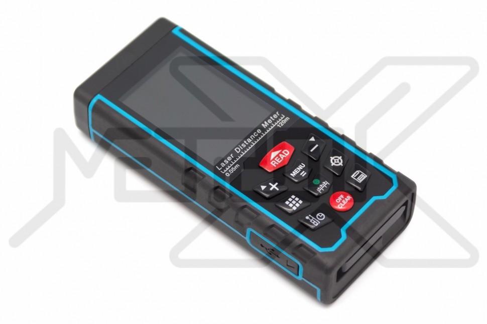 Лазерный дальномер RangeLiner DAL-120C Лазерный портативный дальномер. Измерение расстояния, площади, объема и угла. Диапазон измерений расстояния 0,2-120 м, угла -90° - +90°. Измерения по теореме Пифагора, вычисления, память на 100 измерений. Цветной дисплей. Камера. USB порт для подключения к компьютеру.