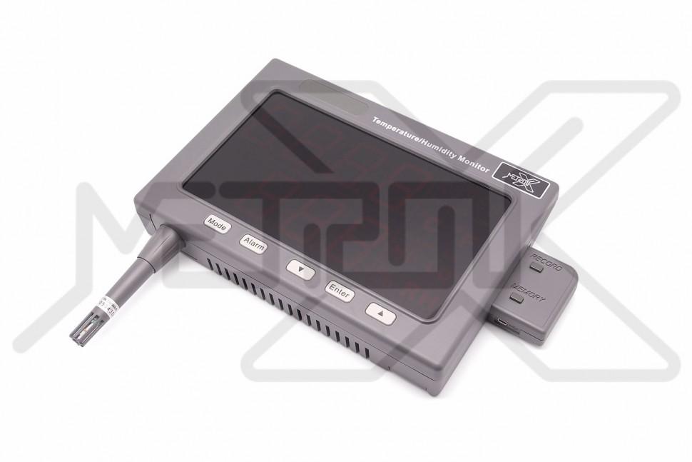 Регистратор влажности и температуры воздуха HygroLiner HTL-50 Регистратор относительной влажности воздуха 5-95%RH и температуры воздуха -20 - +60°C. Сигнальные пределы и реле. USB интерфейс для подключения к ПК. Большой ЖК дисплей.